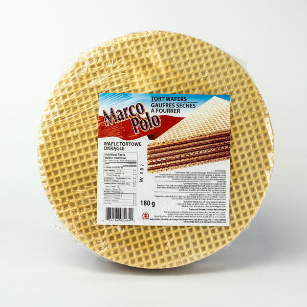Marco Polo Round Cake Wafers
