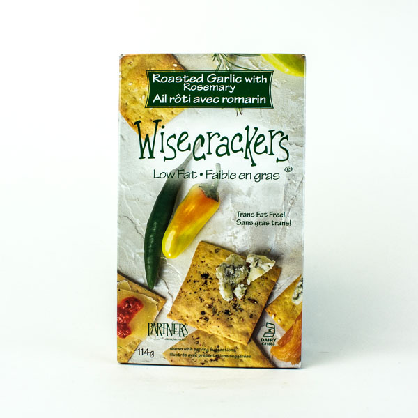 Wisecrackers Roasted Garlic with Rosemary