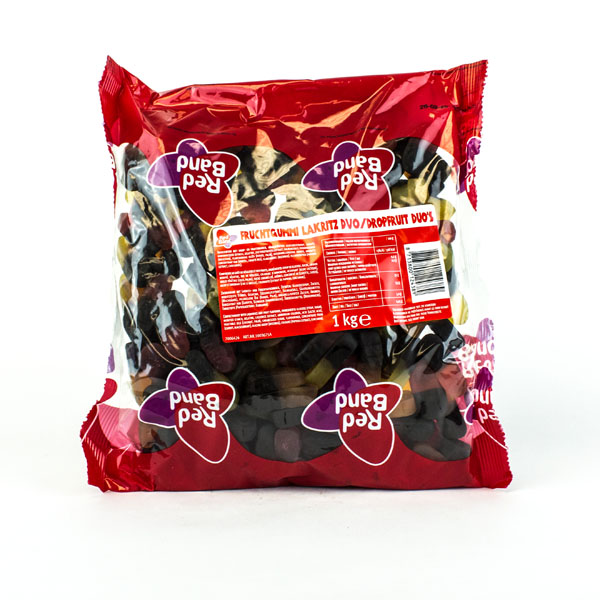Red Band Licorice Fruit Duo's (Sweet and Soft)