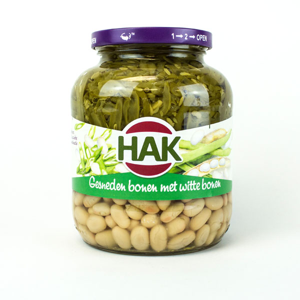 Hak Cut Green and White Beans